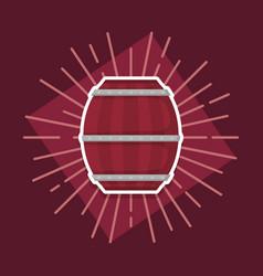 beer barrel wooden icon vector image