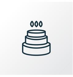 birthday cake icon line symbol premium quality vector image