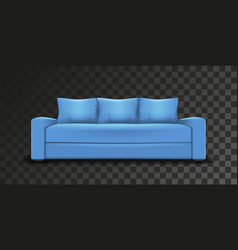 blue sofa single object realistic design on vector image