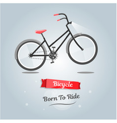Born to ride a bike trendy style for web site vector