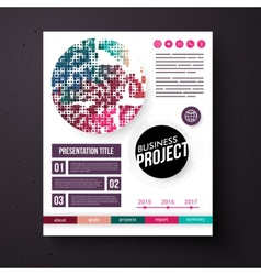 Business Project template in retro colors vector image