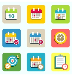 Calendar and event icons vector
