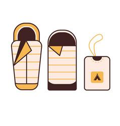 camping sleeping bag vector image