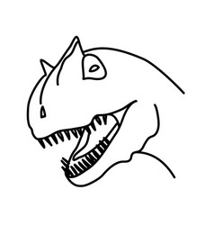 carnosaur icon doodle hand drawn or black outline vector image