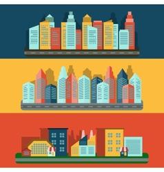 Citescape icons composition banner vector image