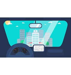 City Life From Car vector image
