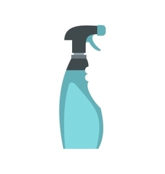 Cleaner for windows icon flat style vector