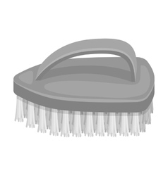 Cleaning brush icon in monochrome style isolated vector