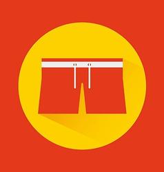 Clothes swiming design vector