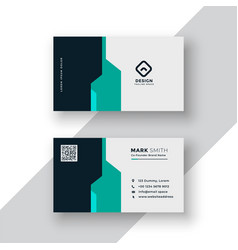 Creative minimal business card template design vector