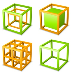 Cube design elements vector image