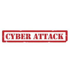Cyber attack stamp vector