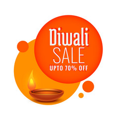 Diwali festival sale and discount template vector