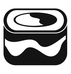 Ebi sushi icon simple style vector