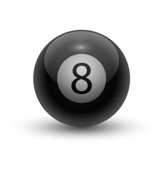 Eight pool ball black solid sphere for eight-ball vector
