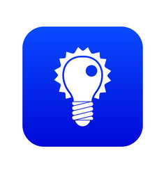 electric bulb icon digital blue vector image