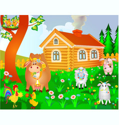 Farm House vector image