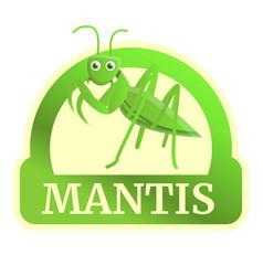 Field mantis logo cartoon style vector