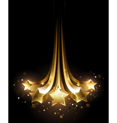 five gold comets vector image