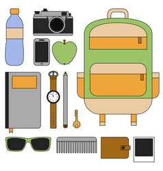 flat design concept outfit accessories vector image