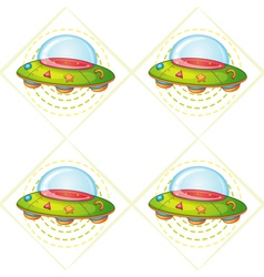 Flying saucers vector