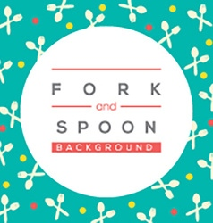 Fork And Spoon Background vector image
