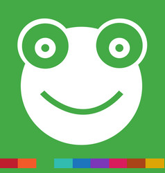 frog icon sign design vector image