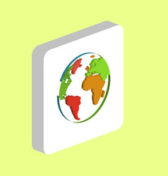 globe earth computer symbol for your business vector image