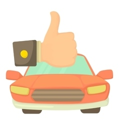 Good car icon cartoon style vector