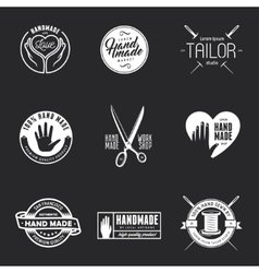 Hand made labels badges and design elements in vector