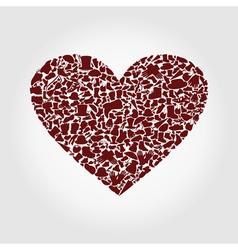 Heart clothes vector