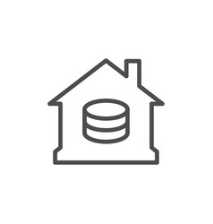 home finance line outline icon vector image