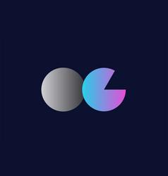 initial alphabet letter oc o c logo company icon vector image