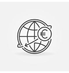 International money transfer icon vector image