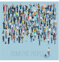 Isometric people crowd vector
