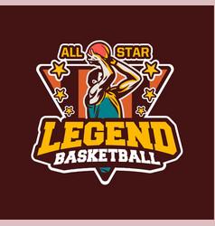 King basketball modern professional logo badge vector