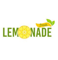 Lemonade fresh beverage made lemons emblem vector