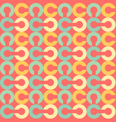 link chain block seamless pattern vector image