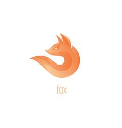 Logo fox fox flame abstract symbol vector