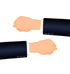 Mans hand right and left suit sleeve vector
