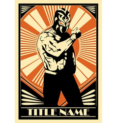 Mexican wrestler 360 vector image
