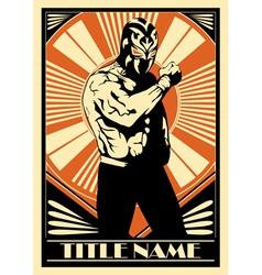 Mexican wrestler 360 vector image