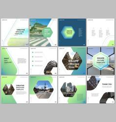 Minimal brochure templates with hexagonal design vector