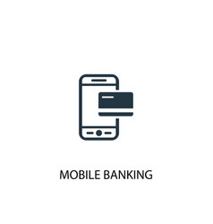 mobile banking icon simple element vector image