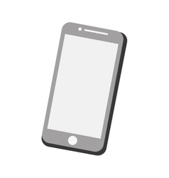 mobile phone screen technology gray color vector image
