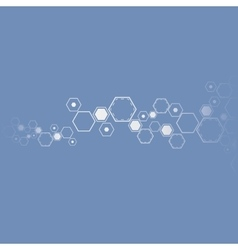 Molecular abstract background vector image