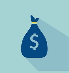 money bag icon flat designdollar usd currency vector image