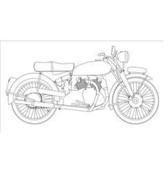 Motor cycle outline vector
