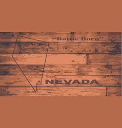 Nevada map brand vector