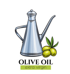 olive oil metal dispenser vector image